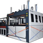 Thermoforming machine with feeder