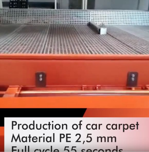 Fast production of car carpets only 55 seconds
