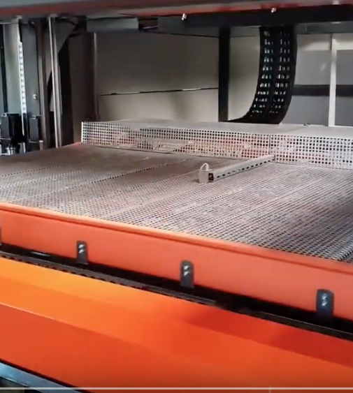 Production of car carpet